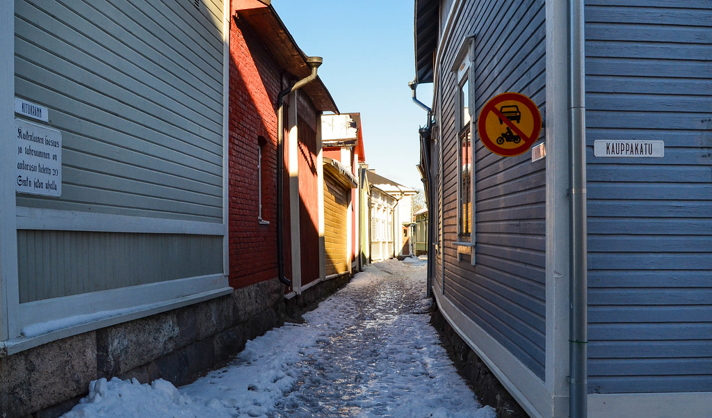 The narrowest street of Finland is located in Old Rauma