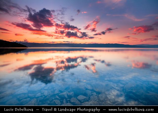 Macedonia (FYROM) - Ohrid Lake during Sunset