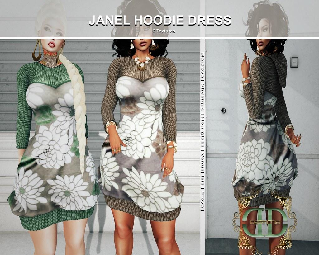 JANEL HOODIE DRESS FATPACK - TeleportHub.com Live!