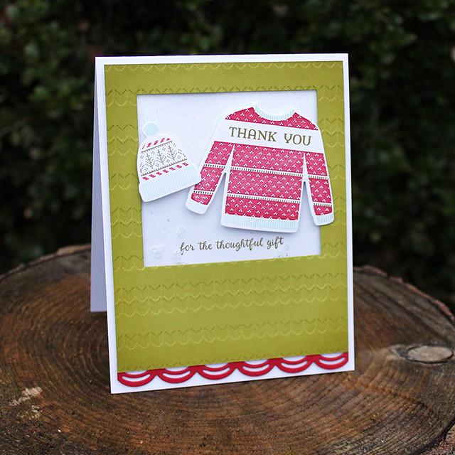 Christmas Thank You Shaker Card