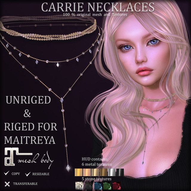 CARRE Necklaces (SOON at District20)