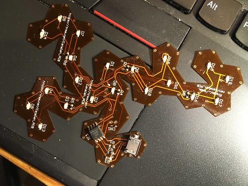 Populated flex PCB