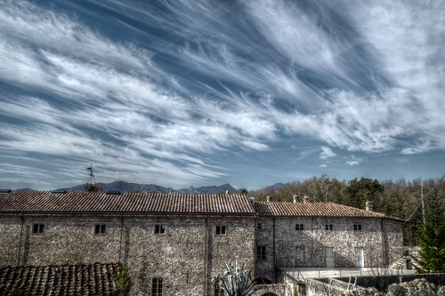 Italy - Tuscany - villa with dramatic clouds