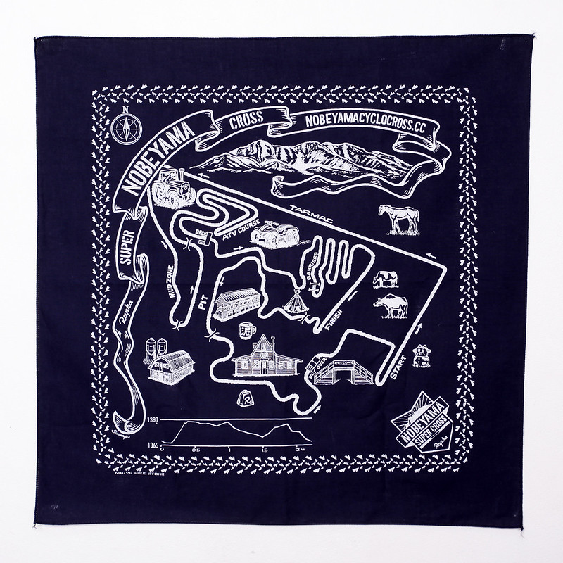 Nobeyama Super Cross Bandana Printed by Above Bike Store