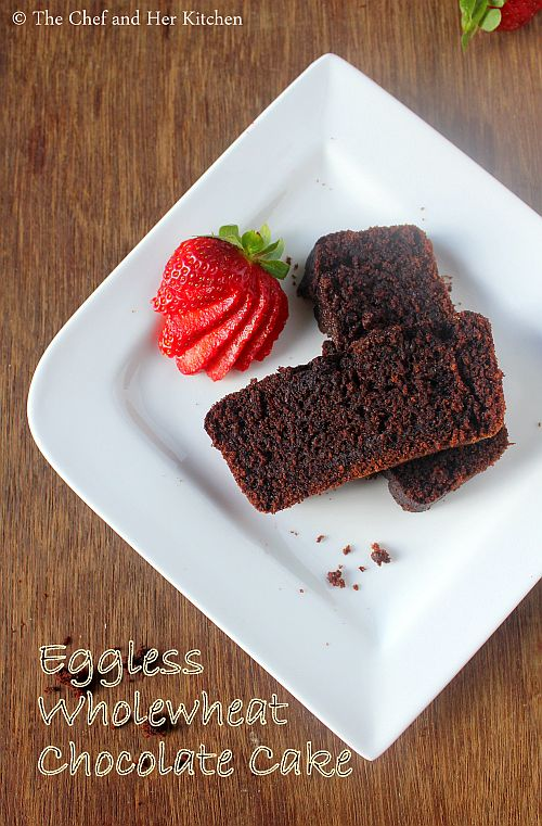 eggless wholewheat chocolate cake