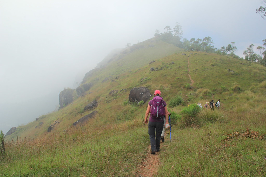 The mist descends on us as we hike through the Seven Malai Hills