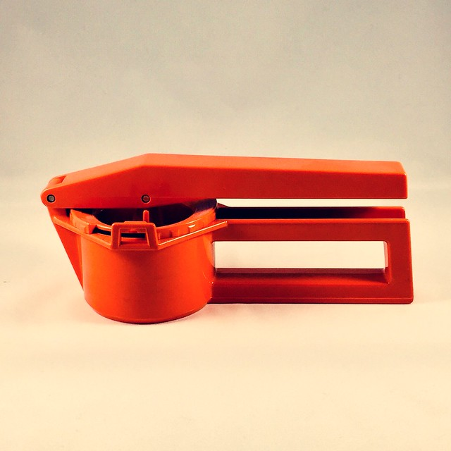 Swiss vintage Zyliss Press is perfect for a retro kitchen by AgathaWar on Etsy   https://www.etsy.com/se-en/listing/570050593/swiss-vintage-zyliss-press-is-perfect #zyliss #press #kitchen #orange #kitchenutilities #swissmade #cooking