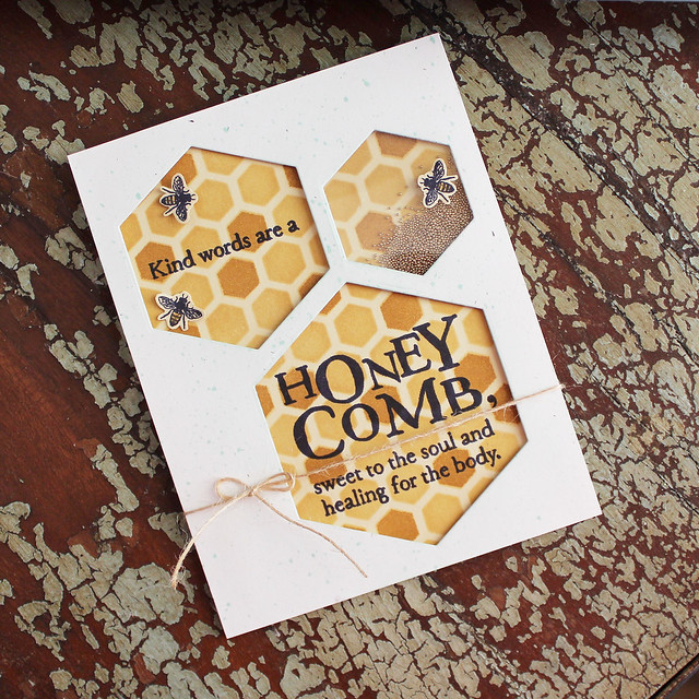 Lizzie Jones - Honey Comb Card
