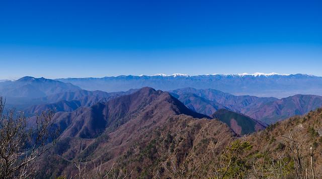 毛無山~南アルプスパノラマ@雪頭ヶ岳