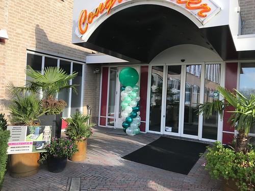 Ballonpilaar Breed Rond Uitvaartbeurs Carlton Oasis Hotel Spijkenisse