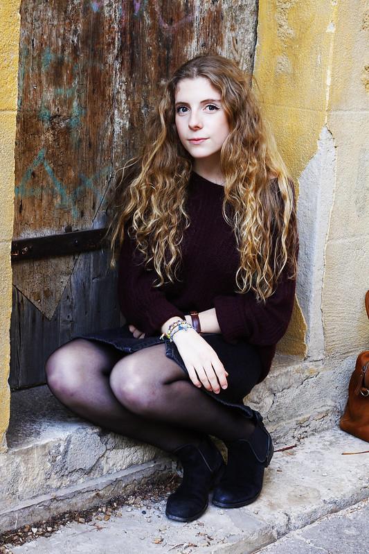 assise par terre outfit automne 2