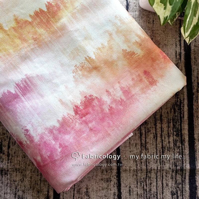 布學盒裝印花布(3尺)迷霧之鹿粉 手工藝DIy拼布布料 SW001709-9