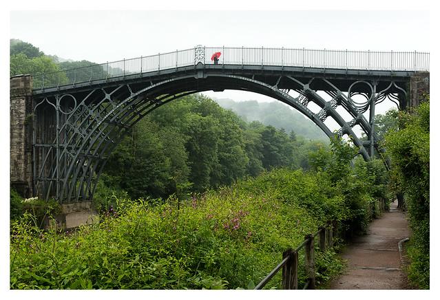 The Iron Bridge, in the rain