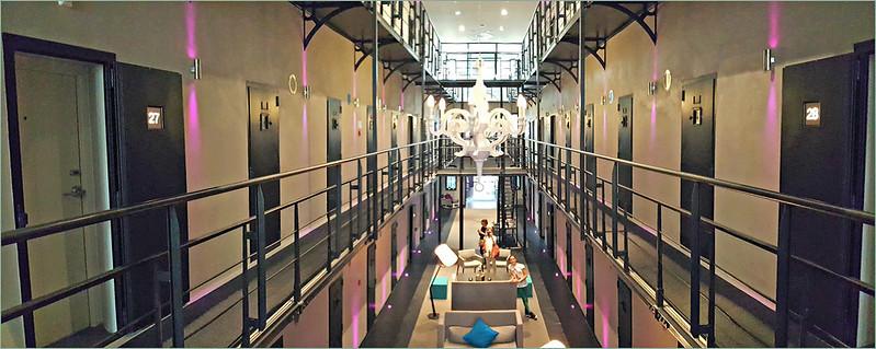 Het Arresthuis, prison transformée en hôtel, Roermond, Limbourg, Pays-Bas