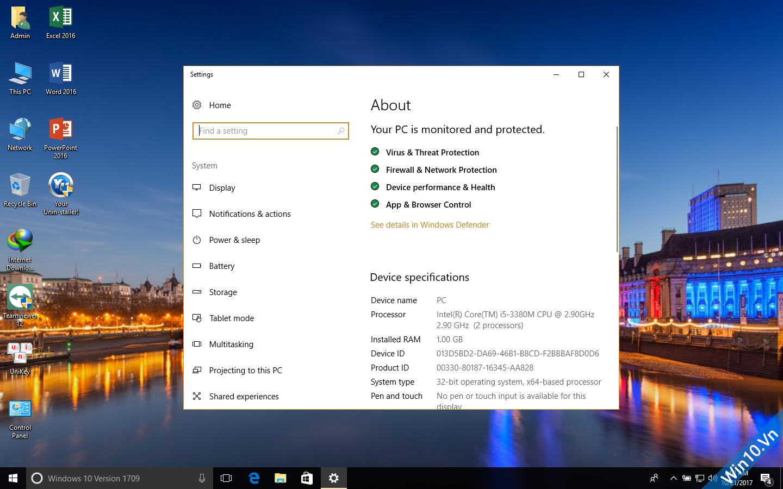 Ghost Windows 10 1709 Full Soft Full Driver 32bit/64bit by ThienIT 78