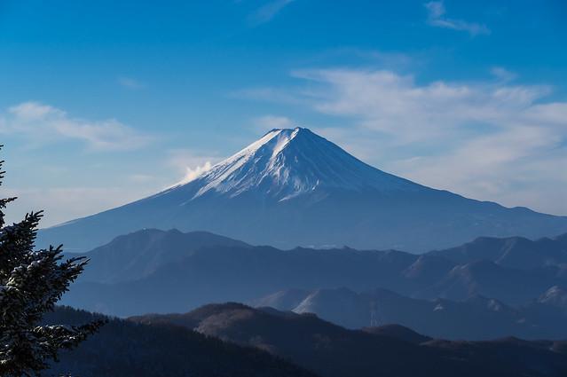 同、、富士山のクローズアップ
