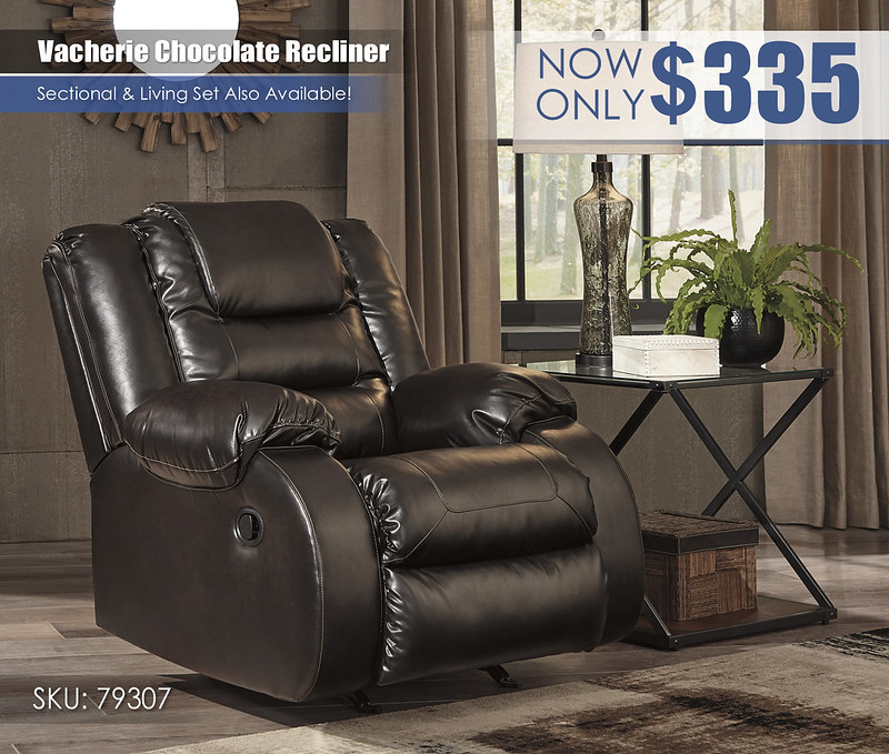 Vacherie Chocolate Recliner_79307-25