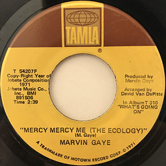 MARVIN GAYE:MERCY MERCY ME(LABEL SIDE-A)