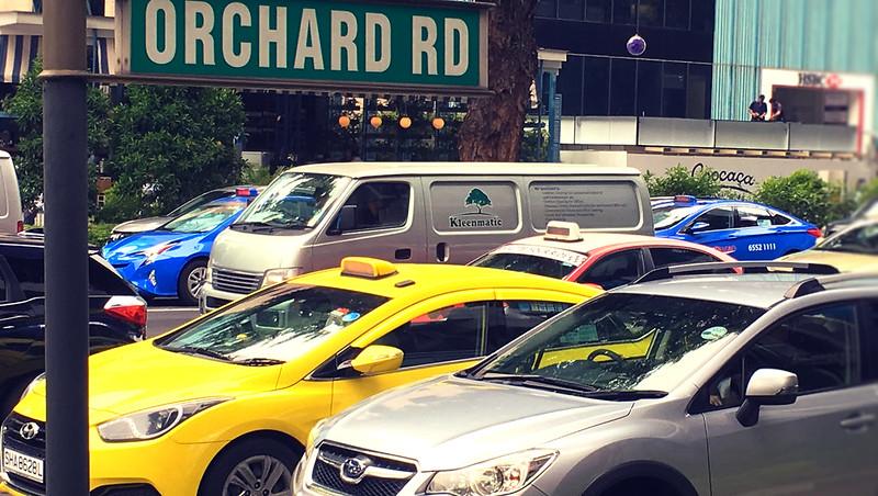 オーチャードロードのタクシー