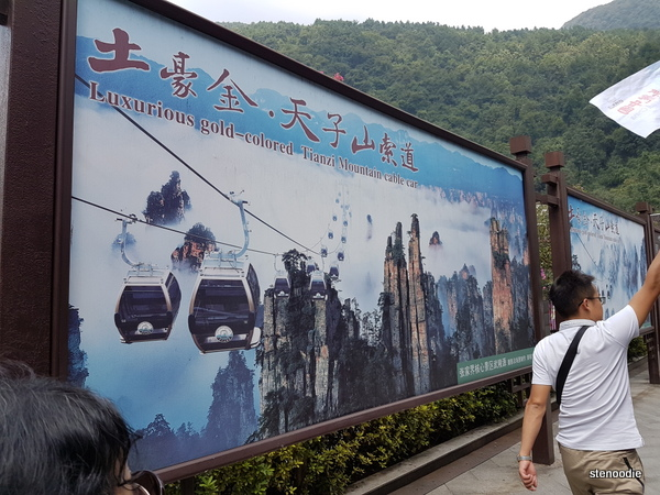 Tianzi Mountain cable cars poster