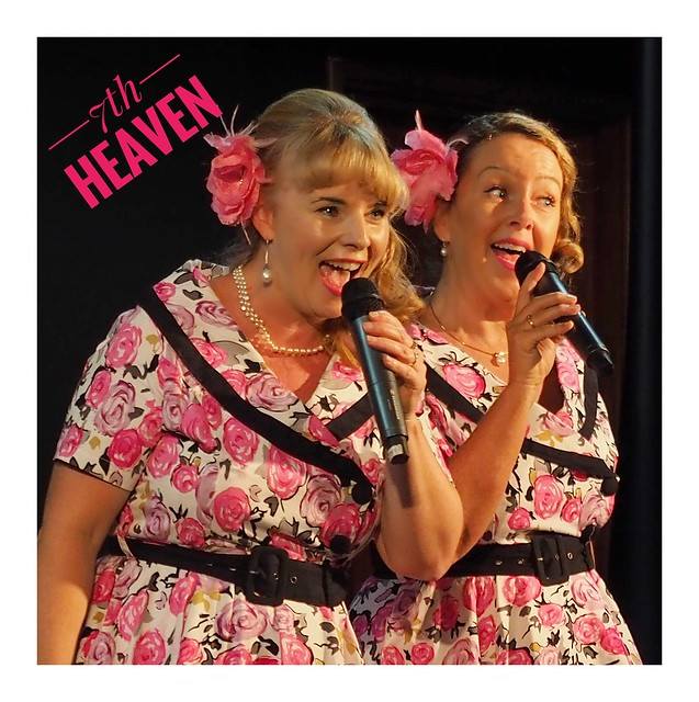These are a fantastic vocal duo, lovely blend of voices and look great on stage. Lighting was poor but my great Olympus f2.8 12-40mm zoom managed to pull this lovely shot out of the gloom. Perth Australia https://www.facebook.com/7thHeavenvocalduo/