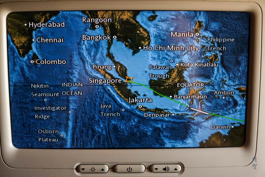 Flying past eastern Indonesia