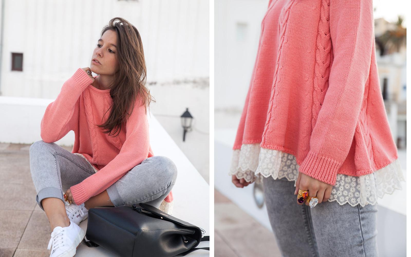 como combinar jersey de punto rosa theguestgirl influencer ibiza spain barcelona rüga marca líder portugal punto