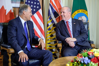 B.C. Premier John Horgan and Washington state Gov. Jay Inslee resolved to strengthen the partnership between British Columbia and Washington state, and act jointly to fight climate change, grow the tech sector and create good jobs across the region.