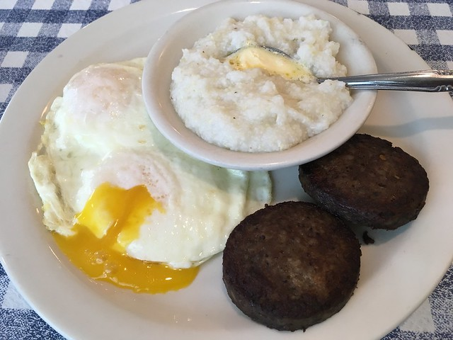 2 eggs and sausage breakfast - Blue Plate Cafe