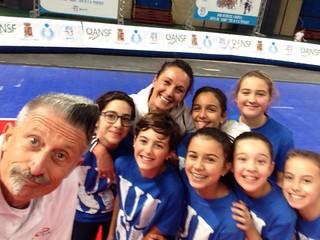 Il campionissimo Andrea Lucchetta con le nostre piccole atlete
