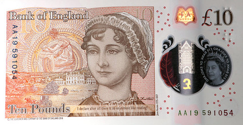 Ten Poind note with raised dots for blind