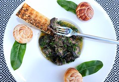 ESCARGOTS A LA BOURGUIGNONNE (SNAILS IN GARLIC-HERB BUTTER IN THE STYLE OF THE BOURGUIGNON)