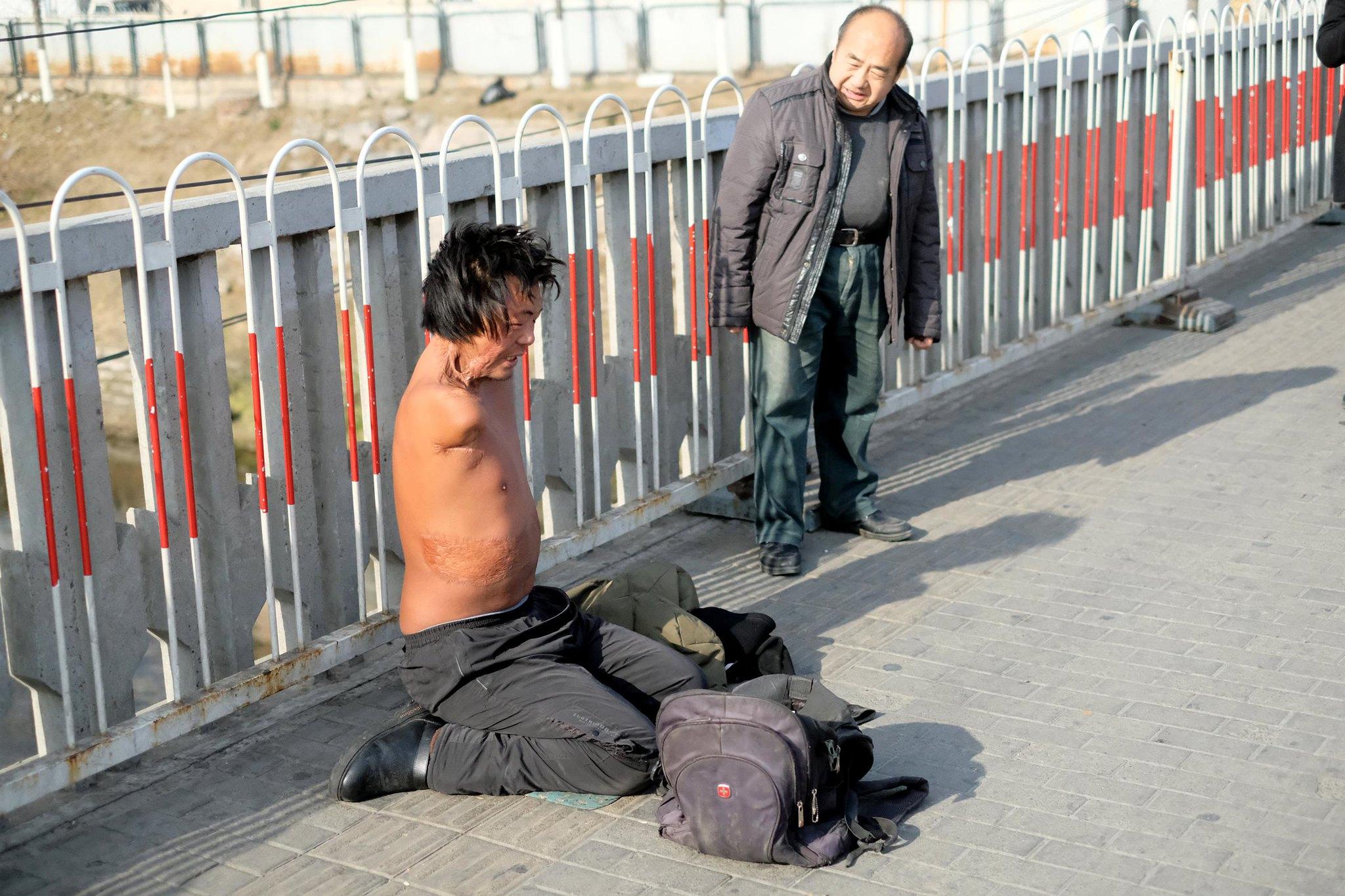 Bettler ohne Arme