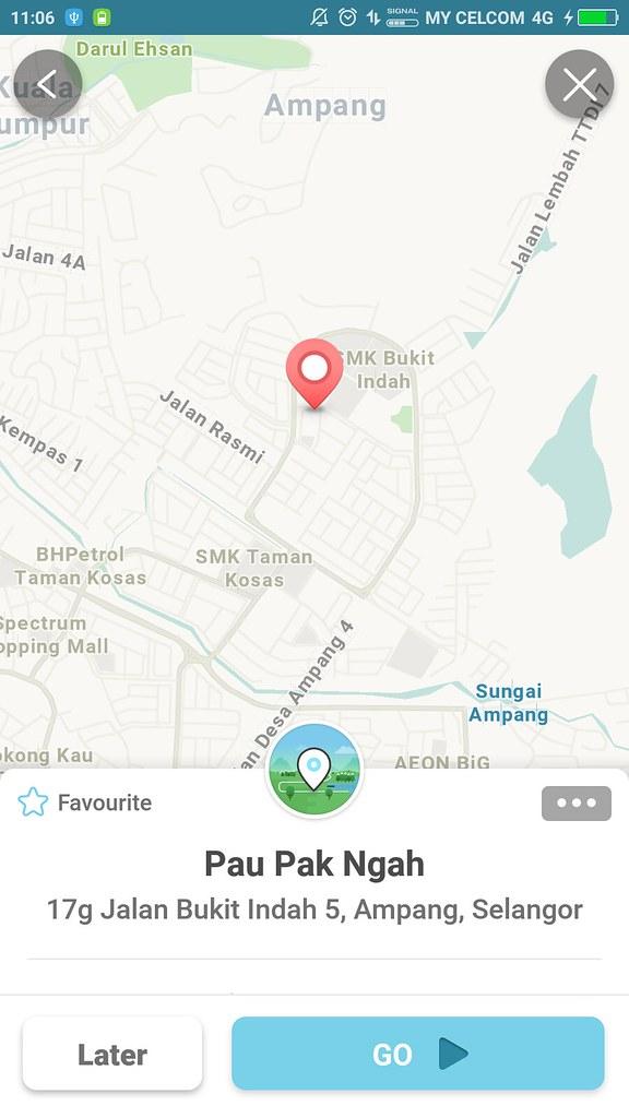 Pau Pak Ngah via Waze