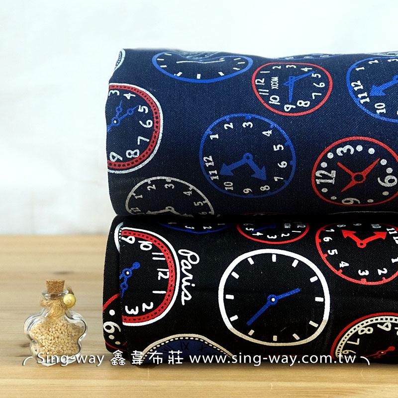 時鐘 牛仔服裝布料 手工藝DIy拼布布料 CE1390002