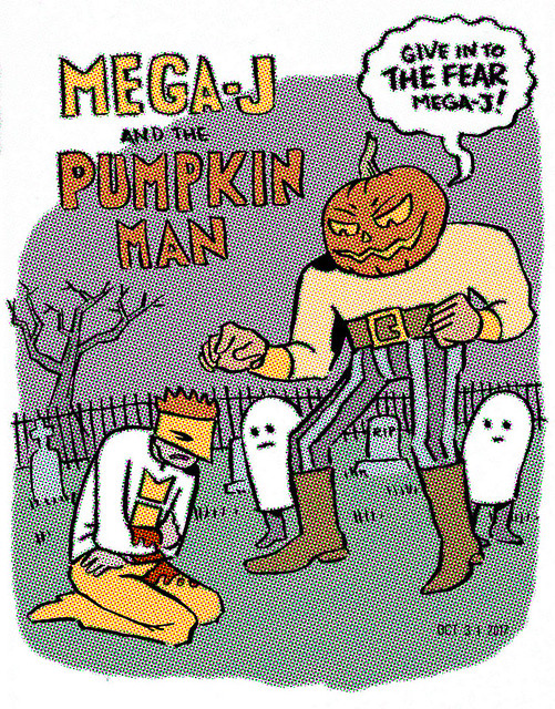 Mega-j and the Pumpkin Man