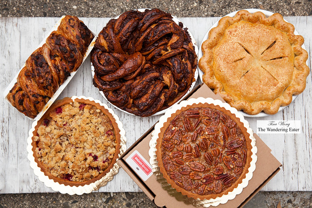 Savory harvest babka and various pies