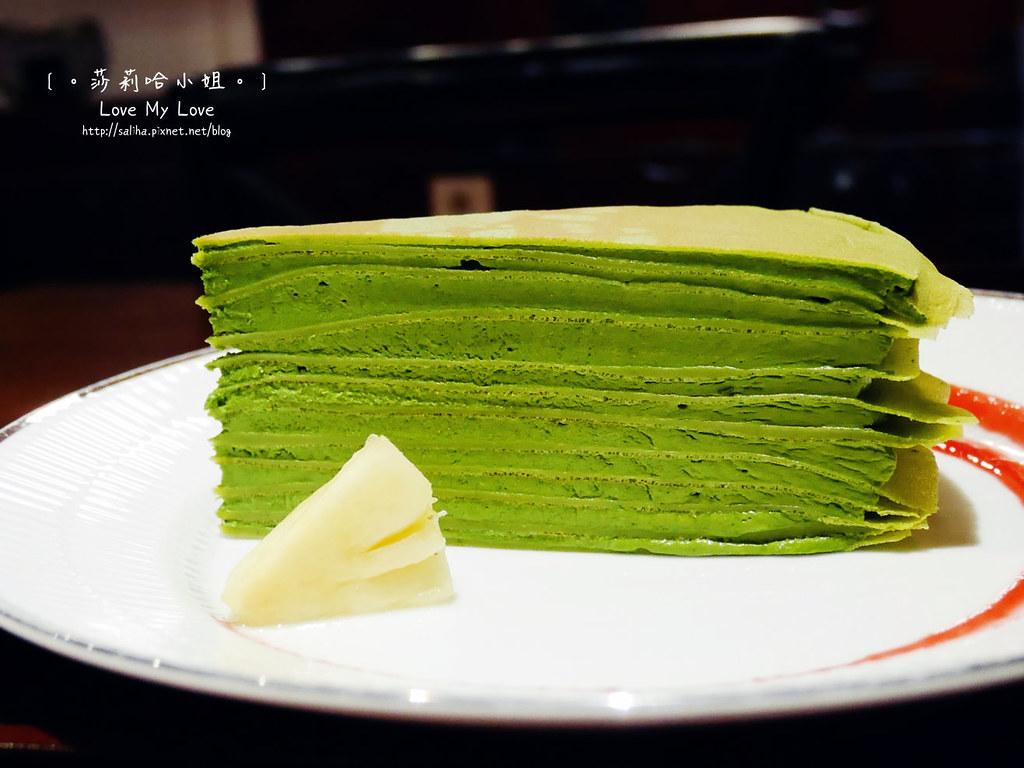 台北台電大樓站平安京茶事下午茶抹茶千層蛋糕