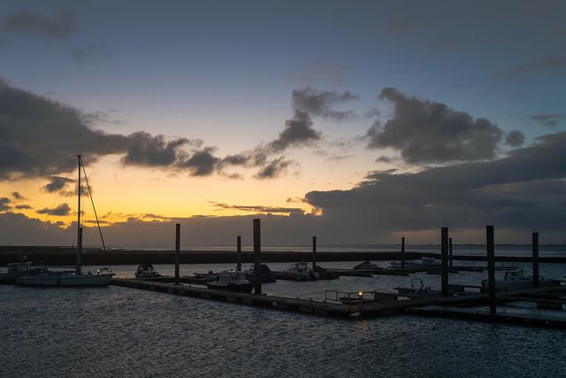 Dawn in Baltrum Harbour