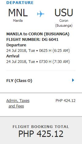 Manila to Busuanga Coron Promo July 24