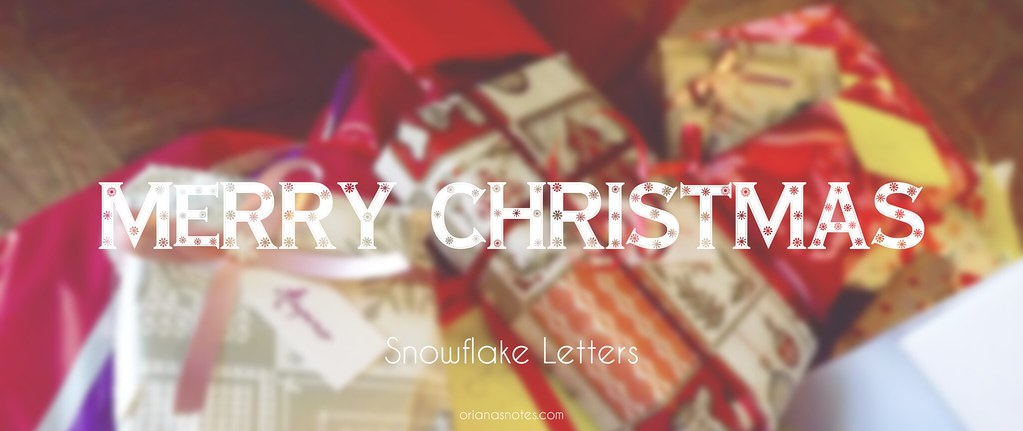 snowflake letters