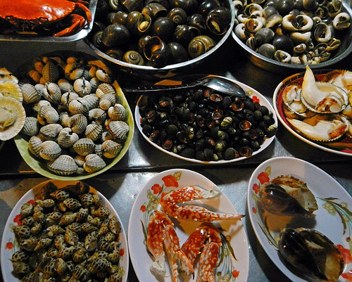 Seafood in the street in Saigon