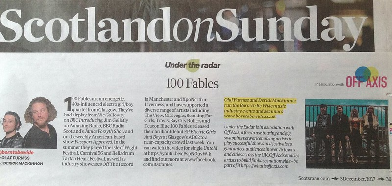 Scotland On Sunday, 3 December 2017, 100 Fables