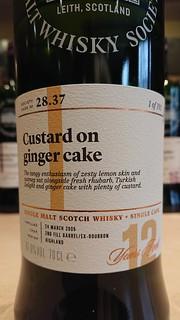 SMWS 28.37 - Custard on ginger cake