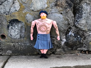 Blond Man in a Kilt