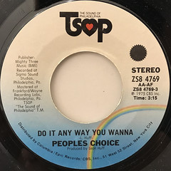 PEOPLES CHOICE:DO IT ANY WAY YOU WANNA(LABEL SIDE-A)