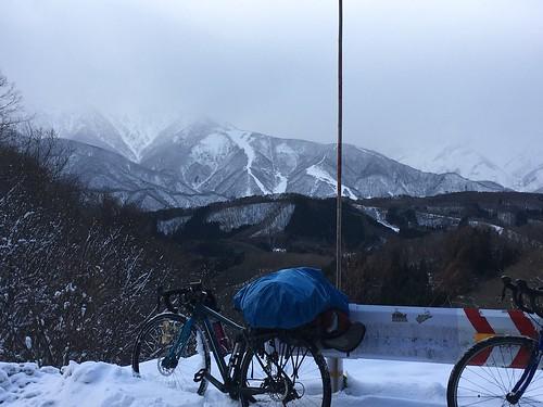 酷道と名高い406号の嶺方峠