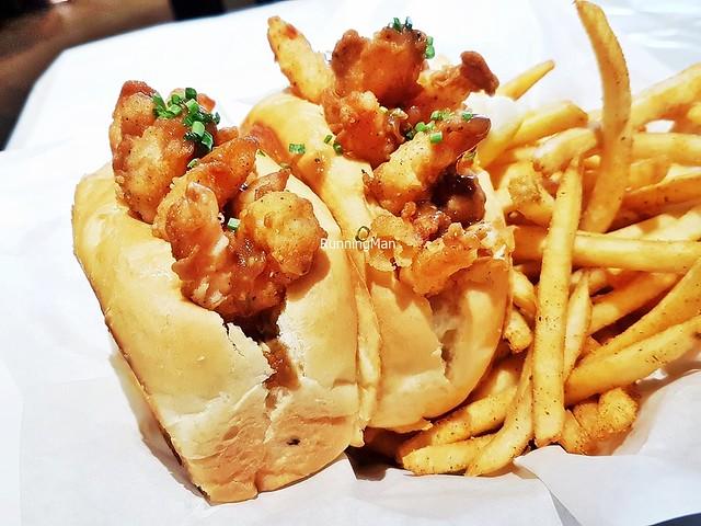 Popcorn Shrimp Po' Boy