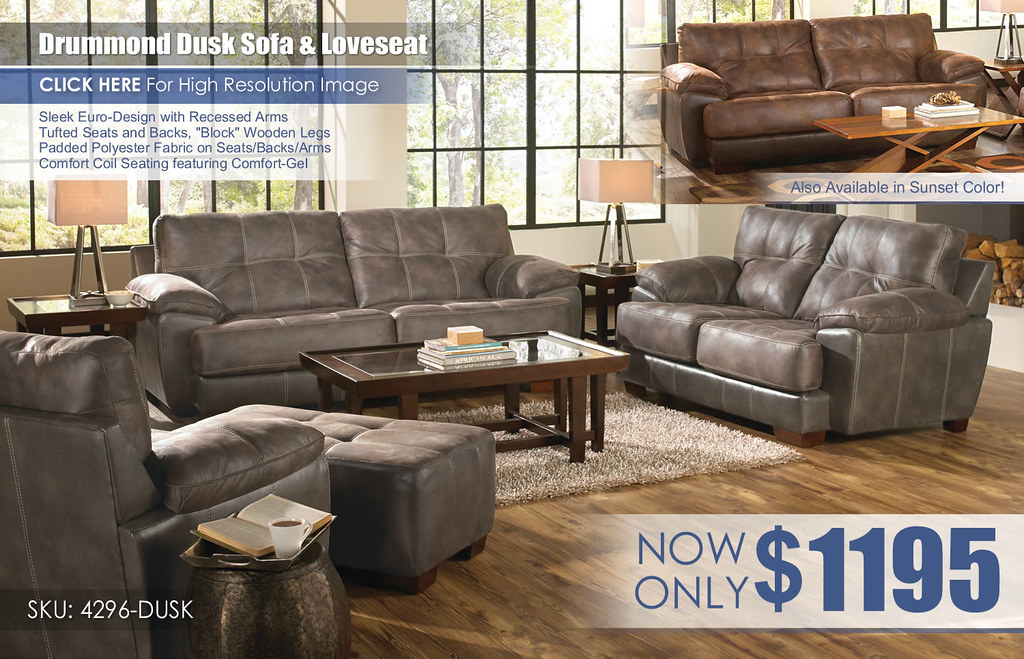 Drummond Dusk Sofa & Loveseat 4296