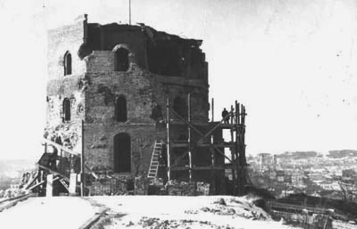 Вильнюс. Башня Гедемина. 1944 год